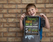 Print Your Own - First Day of School Chalkboard Sign, Style 1