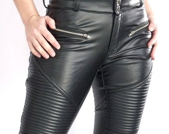 Cheyenne stretch faux leather pants