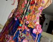 RESERVED FOR E.Second  payment Bohemian romantic altered couture dress mori girl gypsy dress art to wear