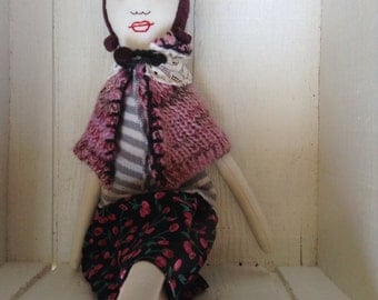 Organic, eco friendly, one of a kind doll