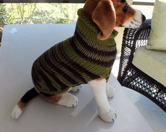 Dog Sweater A Walk in the Woods 15 inches long Medium Merino Wool