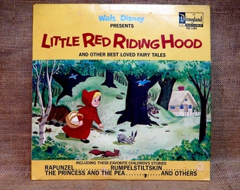 WALT DISNEY'S - Little Red Riding Hood...and Other Best Loved Fairy Tales - 1969 Vintage Vinyl Gatefold Record Album