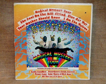 CRAZY CUPID SALE The Beatles - Magical Mystery Tour - 1968 Vintage Vinyl Gatefold Record Album...w/24-Page Full Color Picture Book