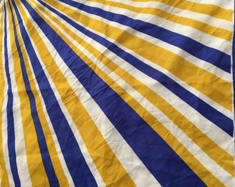 Vintage 70's Vera scarf in blue and gold stripes