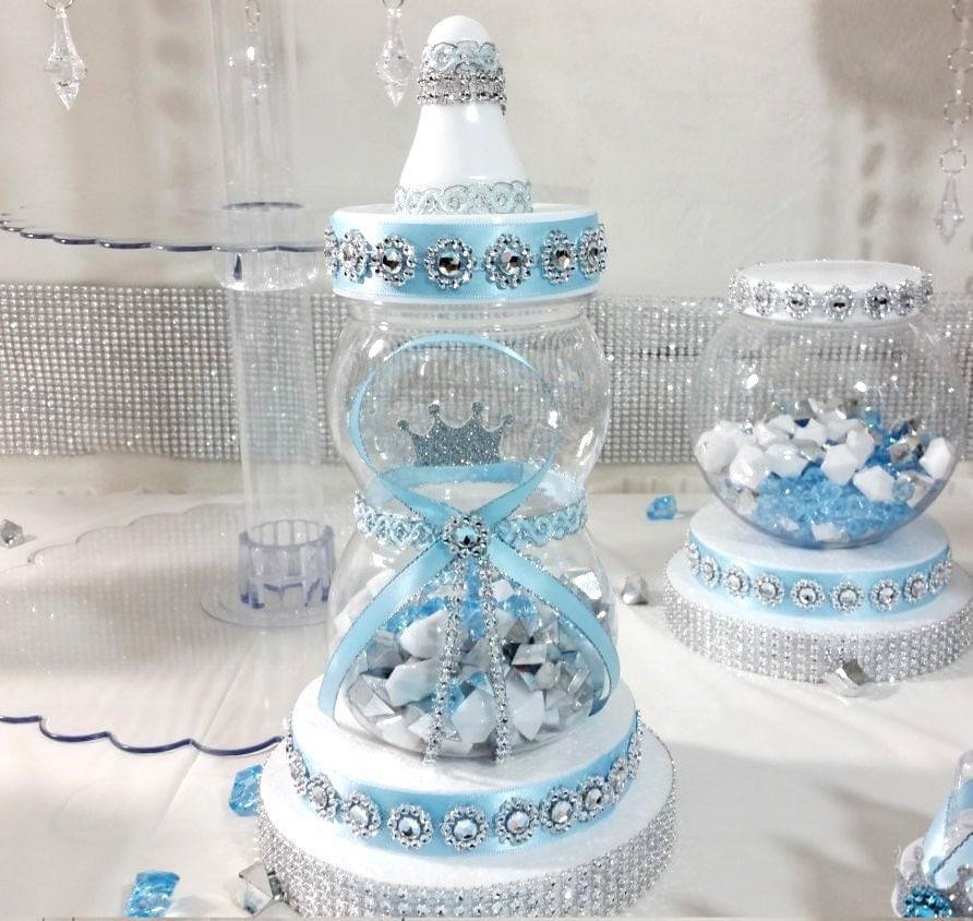 Little Peanut Light Blue Baby Shower Cake Designs