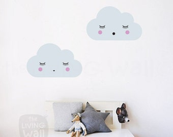 Dreaming Clouds Wall Decals, Cloud Nursery Decal, Sweet Clouds Wall Stickers,  Australian Made Part 69