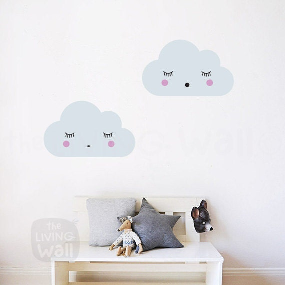 Dreaming Clouds Wall Decals, Cloud Nursery Decal, Sweet Clouds ...