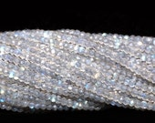 AAA Fine Quality Micro Faceted Gem Stone Beads OF labradorite , Size of 2mm and Each Strand is 14 Inches inch in length.
