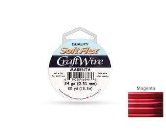 Craft Wire Soft Flex 24gauge Magenta 20yards  - 1 Spool (4701) Wholesale Price