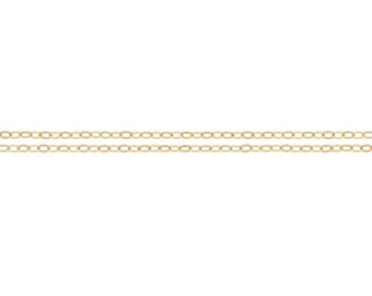 RESERVED: 14kt Gold Filled 1.5 x 1.2mm Flat Cable Chain - 800ft (2306-100) -  Bulk Quantity Discounted Price