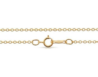 Finished Chains with spring ring clasp 14Kt Gold Filled 1.8x1.5mm 24 Inch Cable Chain - 1pc (8091)