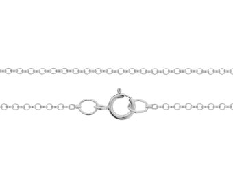 Finished Chains Sterling Silver 1.2mm 20 Inch Rolo Chain with Spring ring - 25pcs Wholesale Price (2747)/25