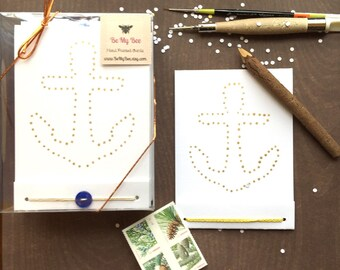 Painted Anchor- 6 Card Set - Custom Note Cards