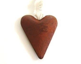 Rusty Heart Ornament , personalized ornaments , engagement ornament , engagement gifts for couple , love ornament , engagement present