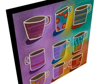 Better Be Latte than Never canvas giclee print