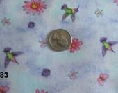 "Quilting Fabric  ""Hummingbirds"" By Debi Horn for SPX Fabrics"