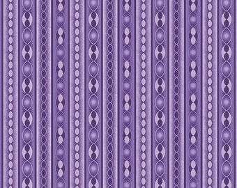 Benartex, Contemporary Prints, Transformations, Purple Stripe