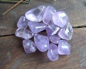 Amethyst gemstones set of 2 - witchcraft supplies wicca wiccan pagan magick metaphysics crystal healing crystals tumbled amethyst