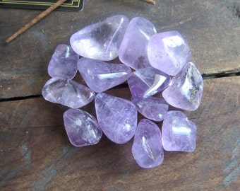 Amethyst gemstones set of 2 - witchcraft supplies wicca wiccan crystals gemstones pagan magick metaphysics altar tools
