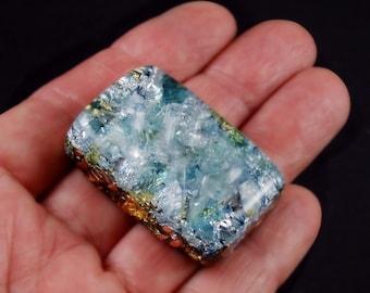 Pocket Orgonite Orgone Generator.. Tibetan & Arkansas Crystals, Blue Apatite, Phenacite, Petalite, Tourmaline, Elite Shungite, Selenite (j39