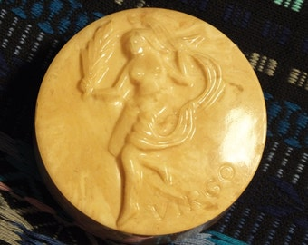 Vintage 3D Marble Virgo Paperweight, August 23 to September 22, Astroligical Sign