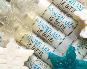 Frozen Snowflake Lip balm - Vanilla Mint - Lip Butter - Kid chapstick - Aubrey E Apothecary
