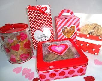 VALENTINE Pecan Pralines ONE LB - Ken's Airy Crunch Homemade Pralines in Special Packaging