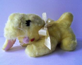 Vintage Gund Plush Rabbit Bunny Yellow Swedlin