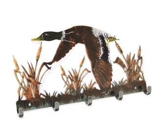 Coat Rack | Hunting Decor | Wall Decor | Duck Hunting Decor | Home Decor | Duck Hunter Gift | Metal Wall Decor | Hunting Decoration