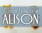 Custom Listing for Alison - Winnie the Pooh and Tigger Mini Figurines