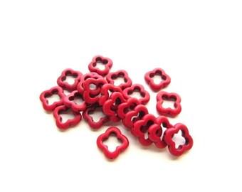 21 Cinnabar Beads /Fancy  Donut beads