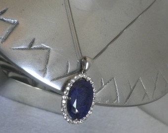 Blue Lapis Lazuli and Sterling Necklace