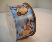 Blue Boy Monkey Berwick Ribbon 3 Yards New On The Spool