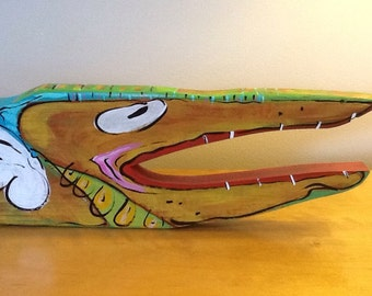 """Fish 26.5""""x5""""x1.5"""" recycled wood"""