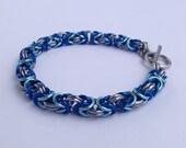 Byzantine Bracelet, Byzantine Weave, Colorful Chainmail, Anodized Aluminum, Nautical Bracelet, Canada, USA, Chainmaille Bracelet, Maille