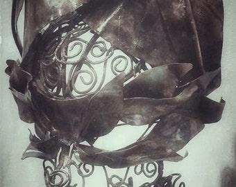 Copper Sculpture/ Pedestal Top/ Figurative Sculpture