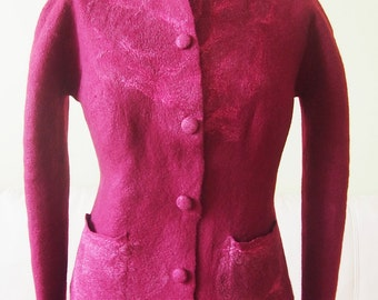 Unique hand made felted jacket