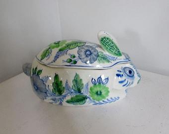 Rabbit Covered Dish Terrine Spain Pottery