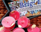 Brigid! Goddess Soy Tea Candles for Ritual, Prayer, Spellwork, Meditation