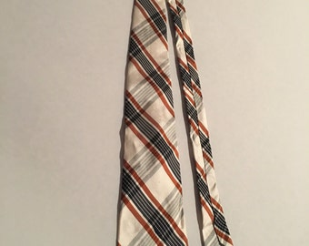 Vintage 1970s Plaid Tie, Mens McInerny Necktie