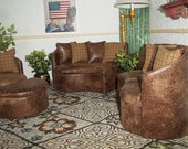 21 Piece 1:6 Sofa & Chair Set includes 3 color styles