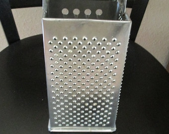 Vintage Metal Grater For Cheese and Veggies
