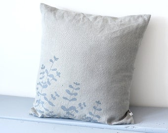 Grey Eucalyptus pillow case