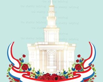 Philadelphia PA LDS Temple Instant Download 8x10