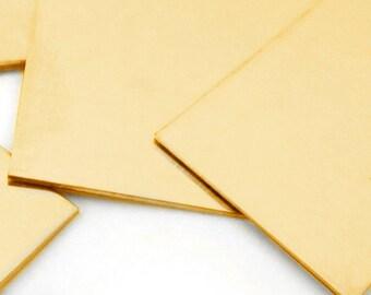 """Brass sheet, 20 gauge (.032"""") 6"""" x 6"""" half hard brass sheet metal"""