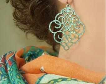 Patina Filigree Earring