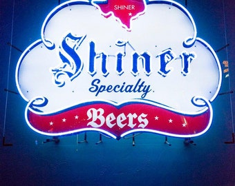 Austin Bar Shiner Beer Neon Sign Texas Photography Western Photography Photograph