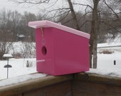 NEW Berry Candy Pink Hanging Birdhouse handmade