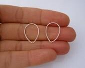 Lotus PETAL earrings hoops in sterling silver, yellow or rose gold, flower petal pair of earrings