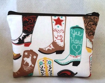 Sale-Cowboy boots cosmetic Bag/Accessory Bag-Large